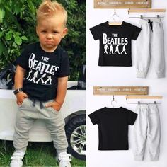 Outfits & Sets! 2PCS Kid Baby Boys Short sleeve T-shirt + Pants Clothes Fit 2-6Y in Clothing, Shoes & Accessories, Kids' Clothing, Shoes & Accs, Boys' Clothing (Sizes 4 & Up) | eBay