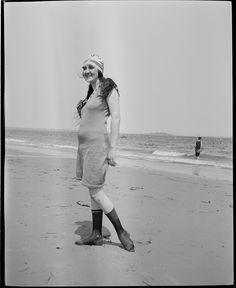 bathing girl at Revere Beach, 1919