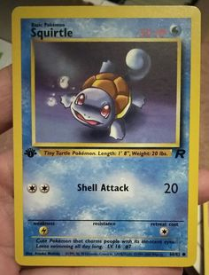 Original Vintage Pokemon 1st Edition Team Rocket Squirtle 68/82 NM/M