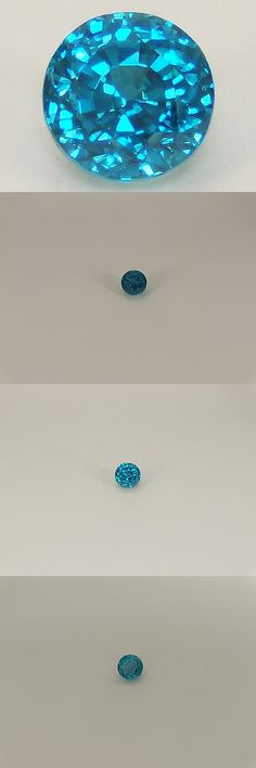 Zircon 10286: Natural Blue Zircon 6.31 Ct. Round Bright Strong Blue Color, Very Lively Gem BUY IT NOW ONLY: $1995.0