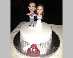 Buy spider-man Custom Cake Toppers head to toe personalized cake topper made from photo by honeymeng. Explore more products on http://honeymeng.etsy.com