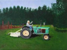 Tami Baron - Ken & Ruth's Farm - Oil on canvas board 12x16