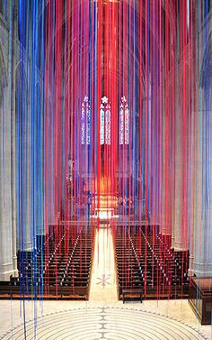 11   Synesthetic Artist Suspends 20 Miles Of Ribbon Inside Grace Cathedral   Co.Design   business + design