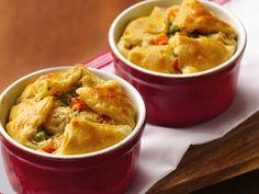 Alfredo Chicken Pot Puff Pies