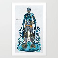 The Real Hero Art Print by basia barbarja - $64.48