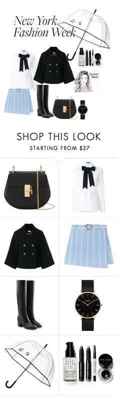 """new york newborn"" by tatumbabe ❤ liked on Polyvore featuring Chloé, Dolce&Gabbana, Sergio Rossi, CLUSE, Kate Spade and Bobbi Brown Cosmetics"