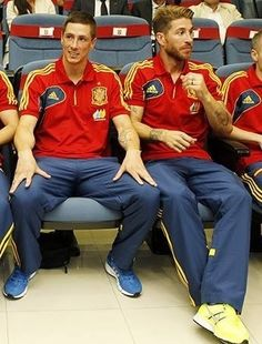 Fernando Torres and Sergio Ramos for Spain