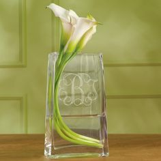 Give her a way to display her bouquet at your wedding reception with this Monogrammed Vase for Bridesmaids.