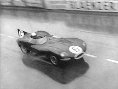 The Jaguar D-Type at the 24 Hours of Le Mans in 1955.