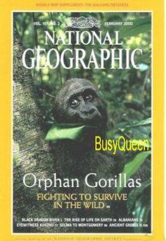 National Geographic Magazine February 2000 Vol.197, No.2 Black Dragon River Albanians