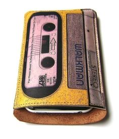 Yellow tape leather iphone case by tovicorrie on etsy. $45