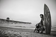 Wheelchair Surfer Christiann Otter Baily encounters great whites, rip tides, and most importantly happiness in the water.
