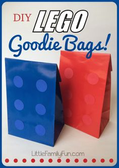 How to make Lego Goodie Bags. For a Lego Party! Great Boys party theme!