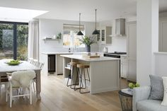 London Townhouse, Interiors, Kitchen, Table, Furniture, Design, Home Decor, Cuisine, Cooking