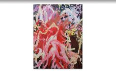 GJones_Scion_oil on canvas – 101 x 75cm – $2300 #painting#abstract#pink#red#brown#Garden