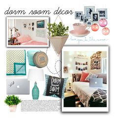 """dorm sweet dorm"" by perfectlydeathly ❤ liked on Polyvore featuring interior, interiors, interior design, home, home decor, interior decorating, Vinyl Revolution, Match, Fatboy and Umbra"