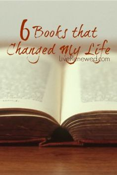 Great reading list! 6 Books that Changed my Life at LiveRenewed.com