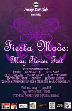 « Fiesta Mode: May Flower Fest (Indie's Female Fronted Bands) May 27 @ Tremolo Music Bar »