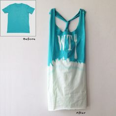 DIY T-SHIRT -> Bleach and scissors!