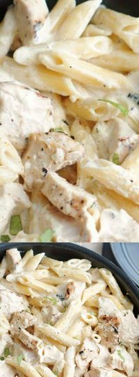 This Lemon Chicken Pasta from 5 Boys Baker is the perfect weeknight dinner when you need to feed your hungry family! It's the ultimate comfort food that pasta lovers will go crazy for.