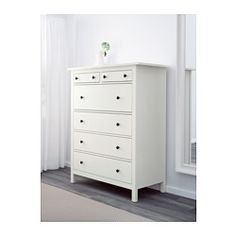 IKEA - HEMNES, 6-drawer chest, white, , This high chest gives you plenty of storage without taking up too much room.Smooth running drawers with pull-out stop.If you want to organize inside, you can complement with SVIRA box, set of 3.