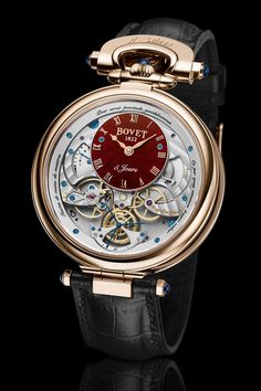 Bovet Virtuoso V Lavish Red Guilloche Dials - 5 Army Watches, Gents Watches, Fossil Watches, Rolex Watches, Black Watches, Ladies Watches, Best Watches For Men, Luxury Watches For Men, Cool Watches