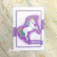 "Jackie Aitken on Instagram: ""Sharing another 🦄Unicorn🦄 creation today for the #purple people. Everytime I use purple anything in my crafty creations I am reminded of…"""