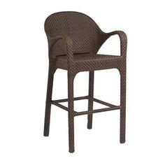 Check out the Woodard S533089 Bali Bar Stool with Arms in Coffee