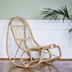 Un rocking chair en rotin, Sika Design