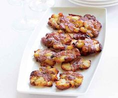 With a simple ingredient list and a mostly make-ahead technique, these delicious potatoes are perfect for parties. Of course, you don't have to have a party to make these. They're just as good served with Sunday dinner as a side dish with roast chicken or meatloaf. And garnished with a bit of sour cream and chives, they make a nice starter. Subscribe to Fine Cooking magazine for more super-simple techniques like this one, as well as recipes and techniques for home cooks of every skill level.