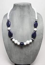 Резултат слика за black and white bead necklace