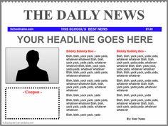iPad News Template blue (using Keynote): http://oakdome.com/k5/lesson-plans/iPad-lessons/ipad-keynote-newspaper-template.php