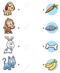 Game for children Royalty Free Vector Image - VectorStock Printable Preschool Worksheets, Animal Worksheets, Matching Worksheets, Kindergarten Worksheets, Matching Games Preschool Activity Books, Preschool Writing, Educational Activities For Kids, Montessori Activities, Infant Activities, Preschool Centers, Preschool Kindergarten, Educational Toys, Fun Worksheets For Kids