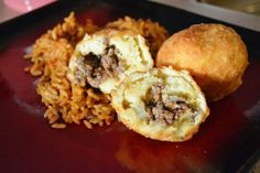 Stuffed Potato Balls ( Papas Rellenas ) from Food.com: These are so good. Well, maybe not the recipe but we used to get these off of Aramingo Ave in Philly at a place called Porky's Point or something like that. addictive...