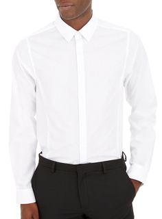 White Skinny Plain Shirt