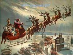 Shop Vintage Christmas, Victorian Santa Claus in Sleigh Wrapping Paper created by ChristmasCafe. Personalize it with photos & text or purchase as is! The Night Before Christmas, Christmas Past, Father Christmas, Christmas Music, Christmas Images, Santa And His Reindeer, Reindeer And Sleigh, Santa Baby, Art Of Manliness