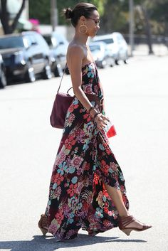 zoe saldana style | FASHION CIRCUS: Zoe Saldana sashaying in Maxi Dress