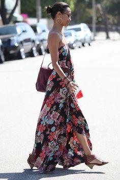zoe saldana style | FASHION CIRCUS: Zoe Saldana sashaying in Maxi Dress