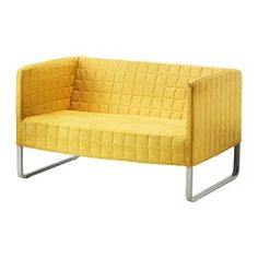KNOPPARP Loveseat - bright yellow - IKEA$99 while saving up for a sectional