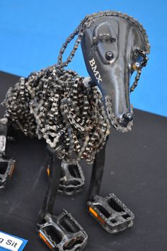 Keep your dog on its chain!!! dog made of bike accesories