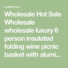 Wholesale Hot Sale Wholesale wholesale luxury 6 person insulated folding wine picnic basket with aluminium frame from Ningbo Lifeage Imp & Exp Co., Ltd. on m.alibaba.com Wine Picnic Basket, Wine Baskets, Cooking Shop, Ningbo, Box Design, Custom Design, Luxury, Hot, Frame