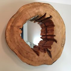 Live Edge Mirror, Wood Mirror, Rustic Mirror, Rustic Décor, Cottage Décor, Retreat Furniture, Spa Furniture, Natural Furniture, Stump Mirror, Salvaged Décor,