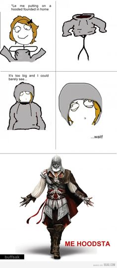 I'm not sure about how to feel about this meme.. It's true for me, but I have never heard of another girl being remotely interested in Assassin's Creed.