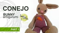 Bunny in overalls amigurumi  - Free #crochet video tutorial & pattern - in Spanish with English subtitles