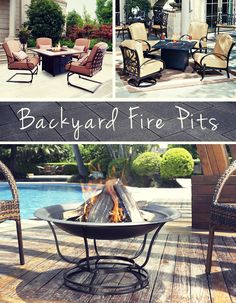 Do you long for the familiar crackle and warmth of a campfire that can only be found with burning wood? #firepit #patio #BackyardFirePits #NFM