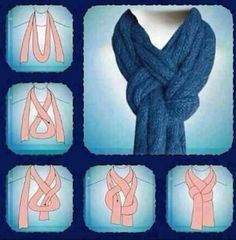 6. New #Scarf - 25 Winter #Clothing Hacks That Will Help You #Survive the Cold Weather ... → #Fashion #Homemade