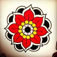 Geometric flower tattoos are the prettiest