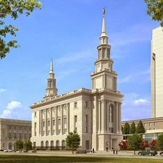 A rendering of the Philadelphia Pennsylvania Temple  Get artwork of temples like this by Chad Hawkins! http://www.chadhawkins.com/  #ChadHawkins #mormon #patrioticartwork #lds #temples #ldstemples #templeartwork