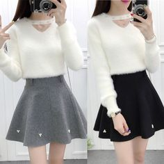 """Sweet sweater + skirt two-piece SE9627   Coupon code """"cutekawaii"""" for 10% off"""