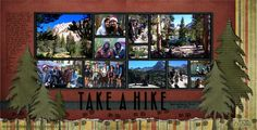 D. Brinsley's Memory Keeping blog: Take a Hike Digital Layout Idea, hiking, camping, woods